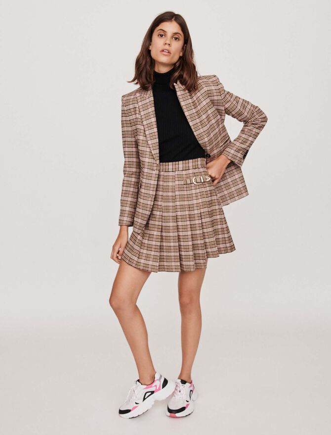 Pleated plaid kilt-style skirt - Skirts & Shorts - MAJE
