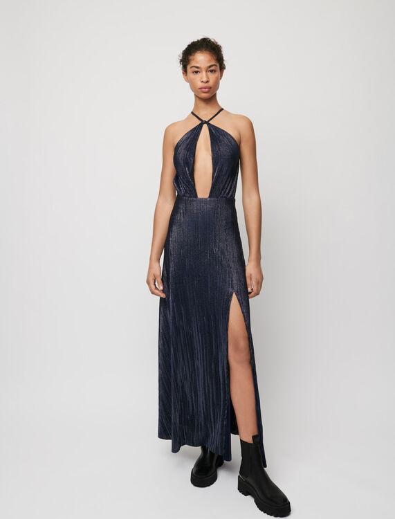 Low-cut lamé dress - Dresses - MAJE