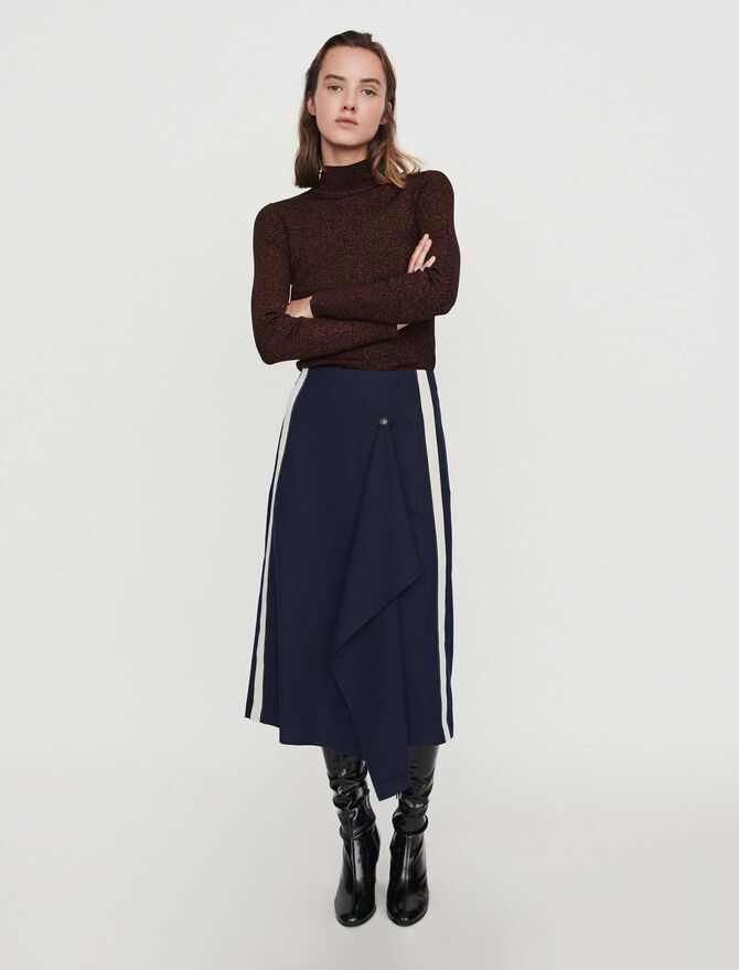 Skirt with racing stripes - Best Sellers - MAJE