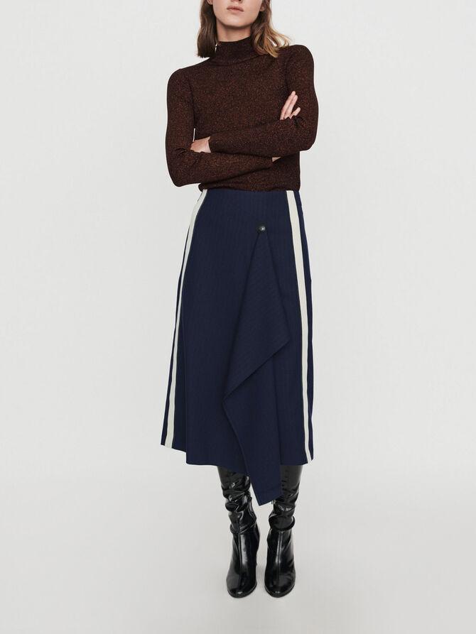 Skirt with racing stripes -  - MAJE