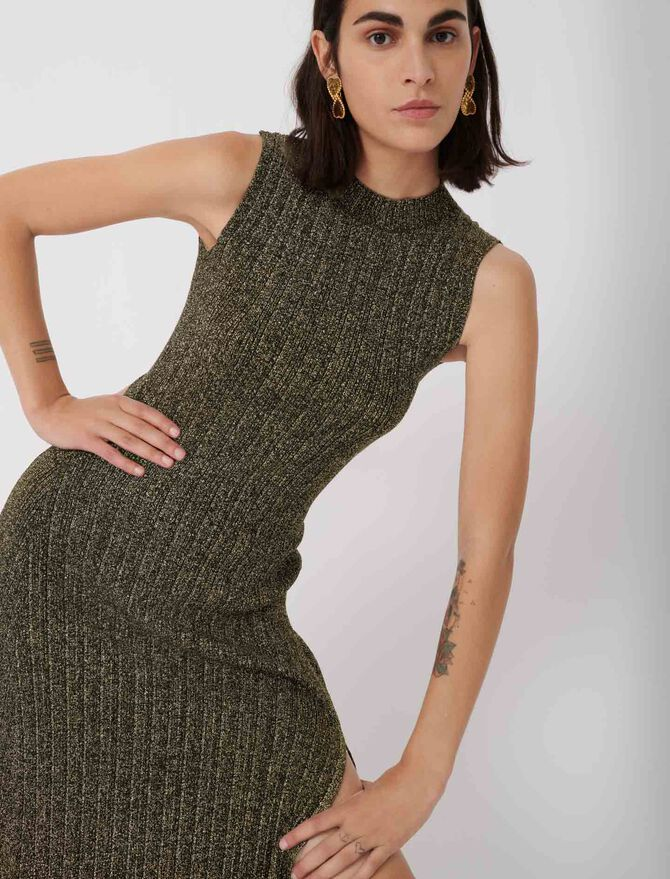 Lurex knit dress -  - MAJE