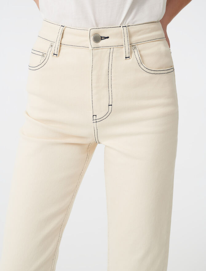 Straight leg jeans with topstitching -  - MAJE