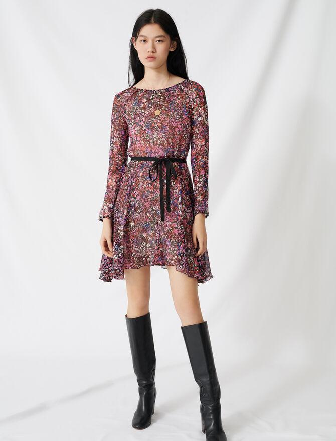 Belted floral dress - Dresses - MAJE