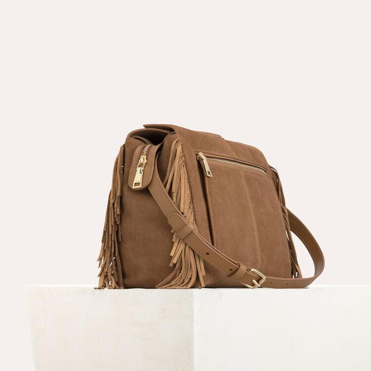 MWALK bag with leather fringe : Totes & M Walk color Camel