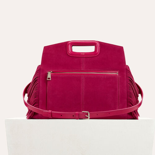 Suede shoulder bag : staff private sale color Raspberry