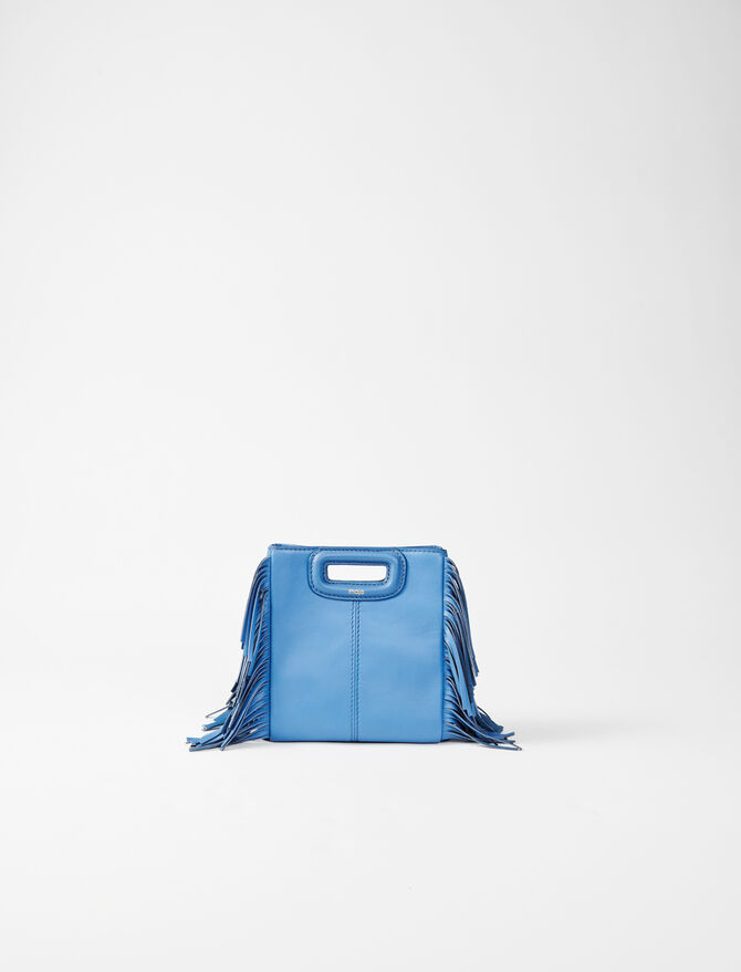Leather mini M bag with chain -  - MAJE