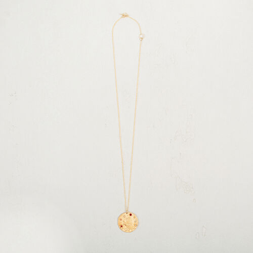 Leo zodiac sign necklace : Collection color GOLD