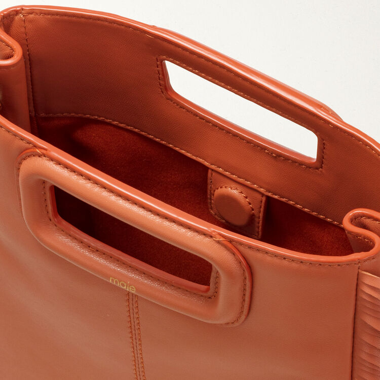 M bag with fringes : M bag color Terracota