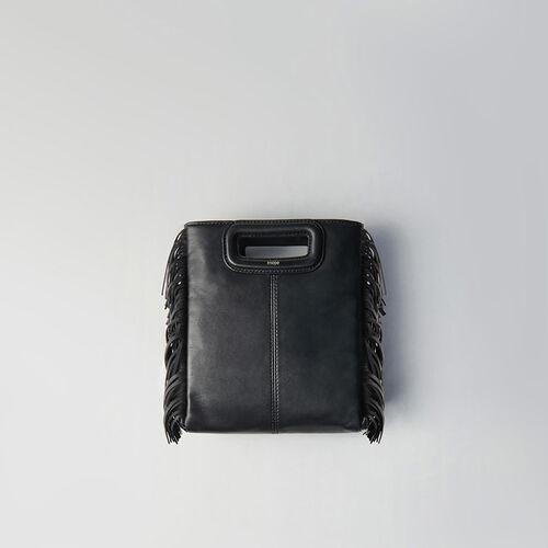 Leather M bag : M bag color Black