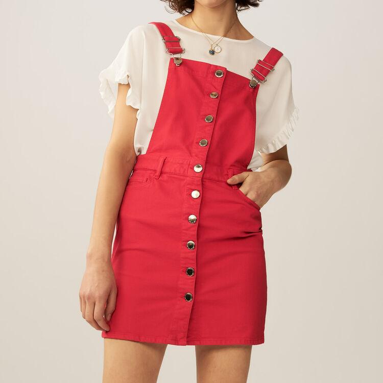 Denim jumpsuit : staff private sale color ROUGE