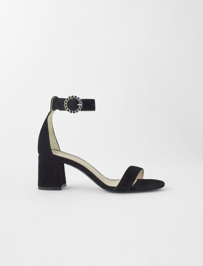 Strappy midi-heeled sandals - Sandals - MAJE