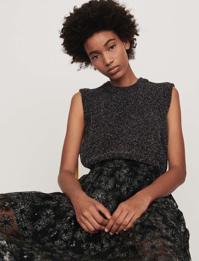 Lurex sleeveless sweater - -30% - MAJE