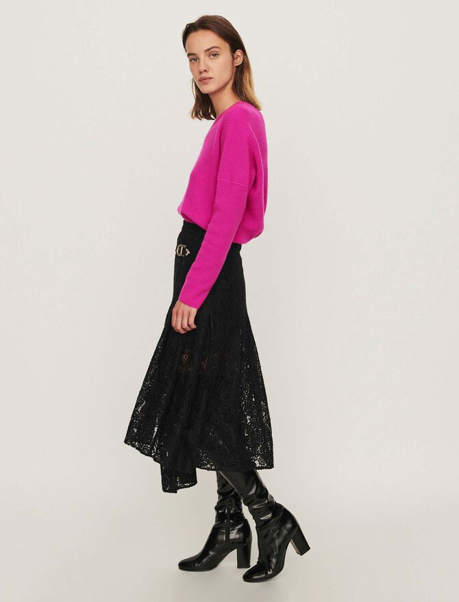 Guipure skirt with cashmere detail - Best Sellers - MAJE