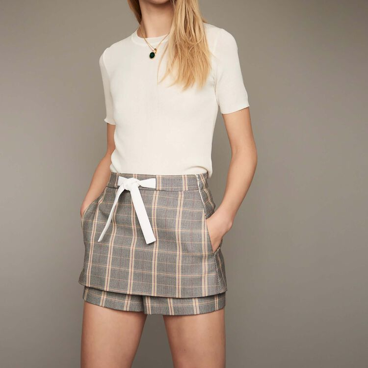 Checkered shorts : staff private sale color CARREAUX