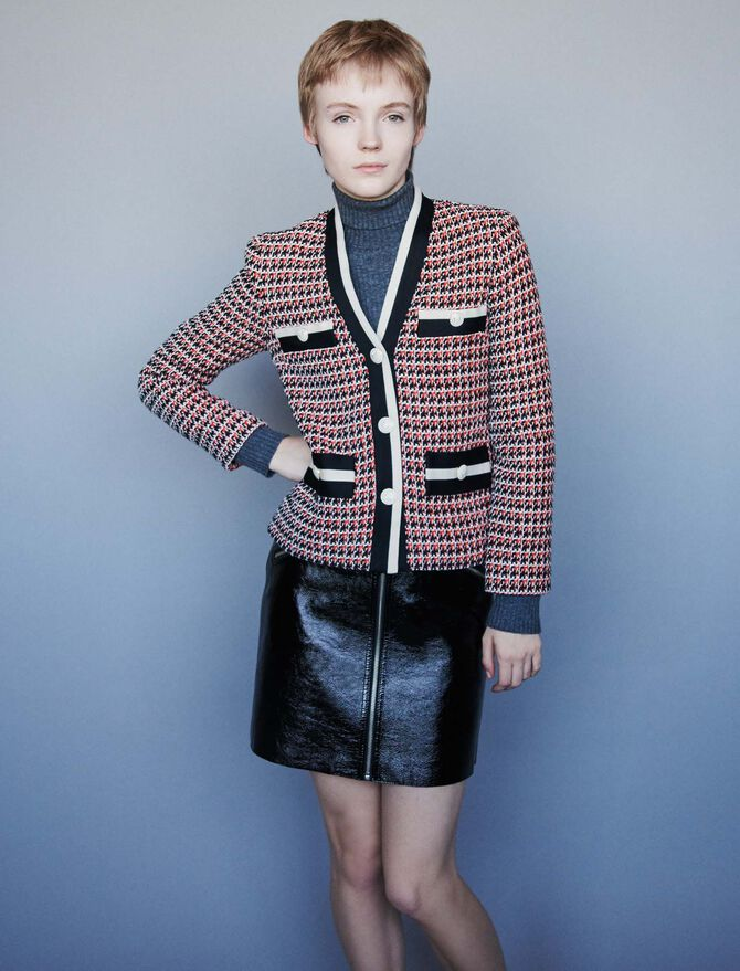 Contrast tweed-style jacket - Blazers - MAJE
