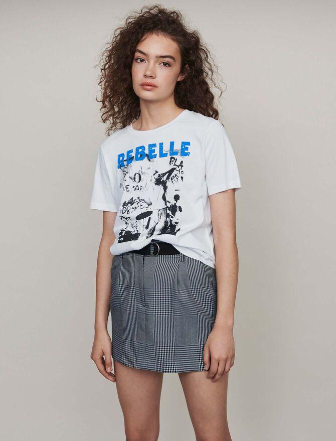 Silk screen printed tee shirt - SoldesFR_Tops_chemises - MAJE