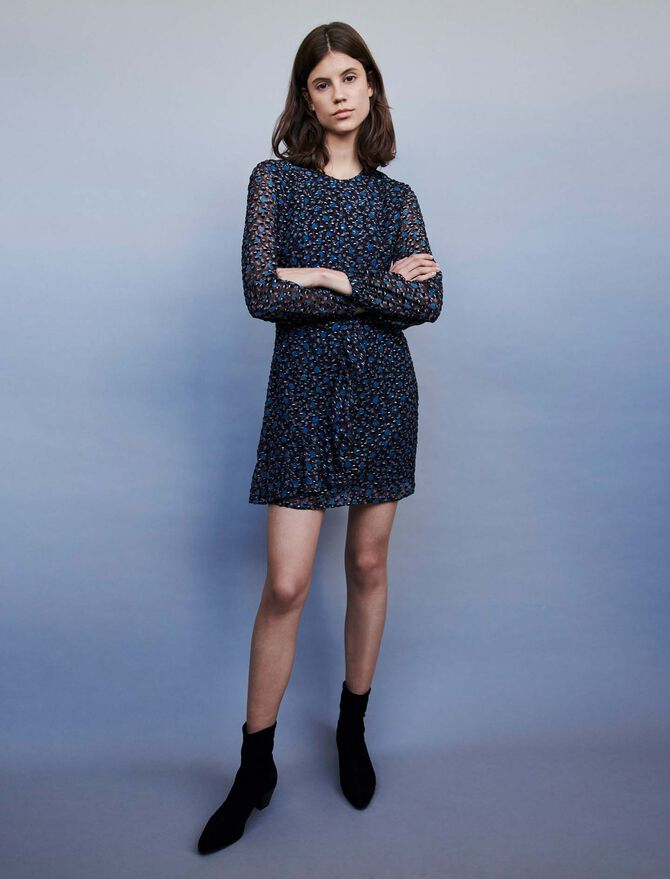 Devore Lurex dress - SoldesBE_50 - MAJE