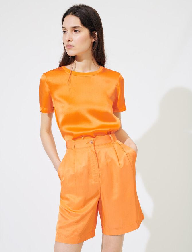 Satiny flared shorts - Skirts & Shorts - MAJE