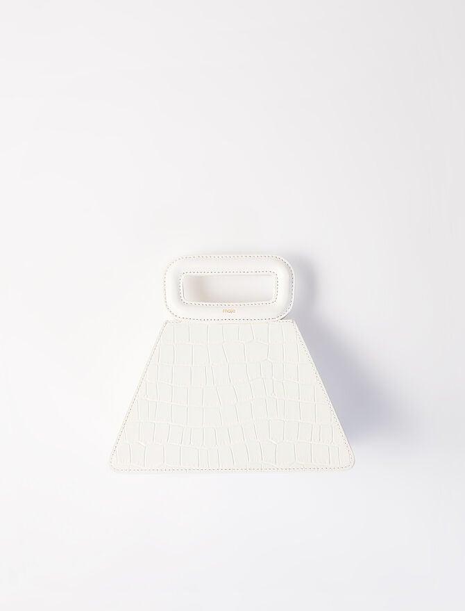 Crocodile-effect leather pyramid bag - Summer collection - MAJE