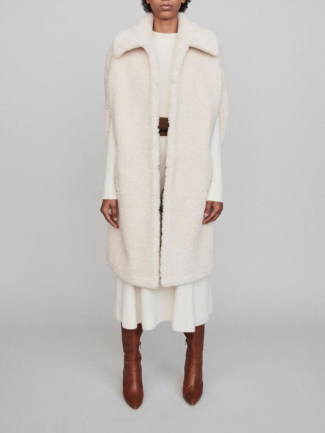 Faux fur cape coat - LastchanceUK_40 - MAJE