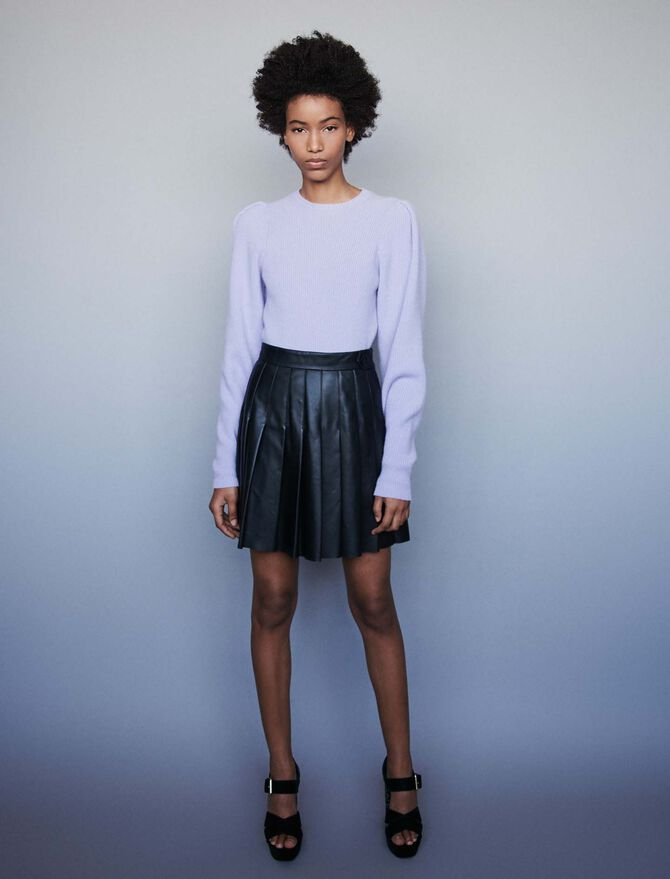 Wool sweater with balloon sleeves - -30% - MAJE