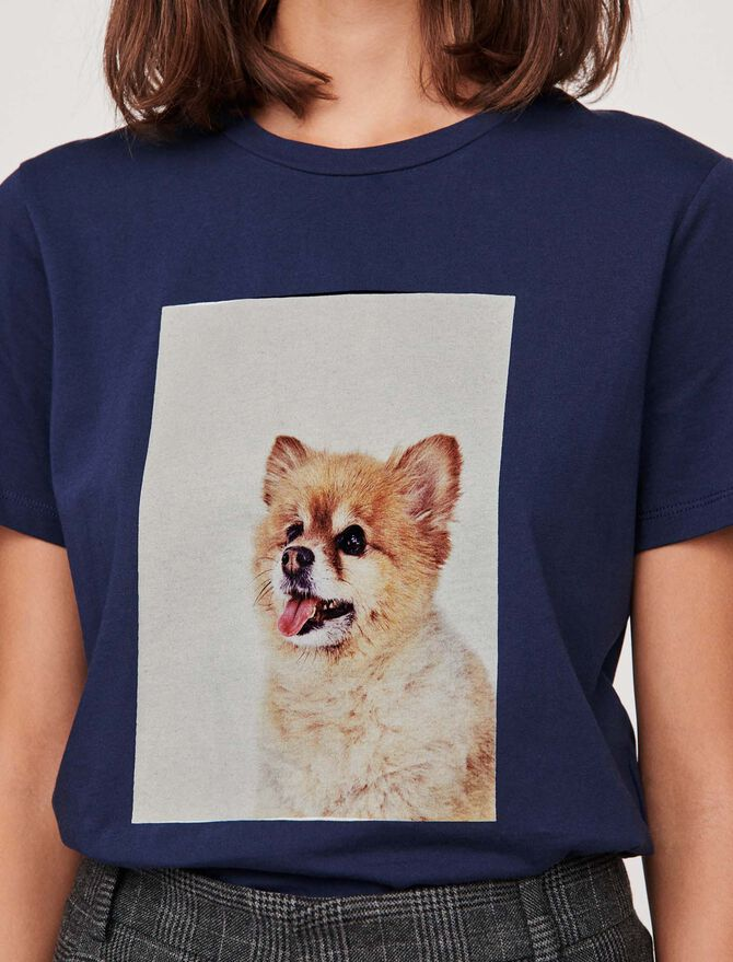 """T-shirt with """"chien"""" print - SoldesFR_Tops_chemises - MAJE"""