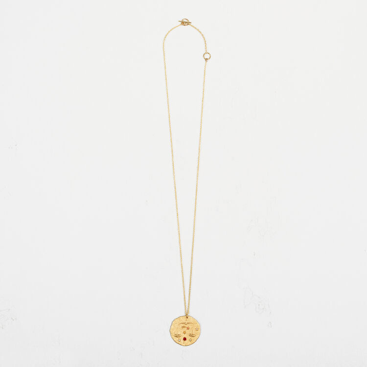 Libra zodiac sign necklace : Party Wear color GOLD