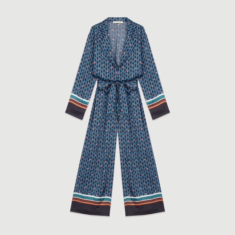 Monogram printed trouser suit : Trousers & Jeans color Printed