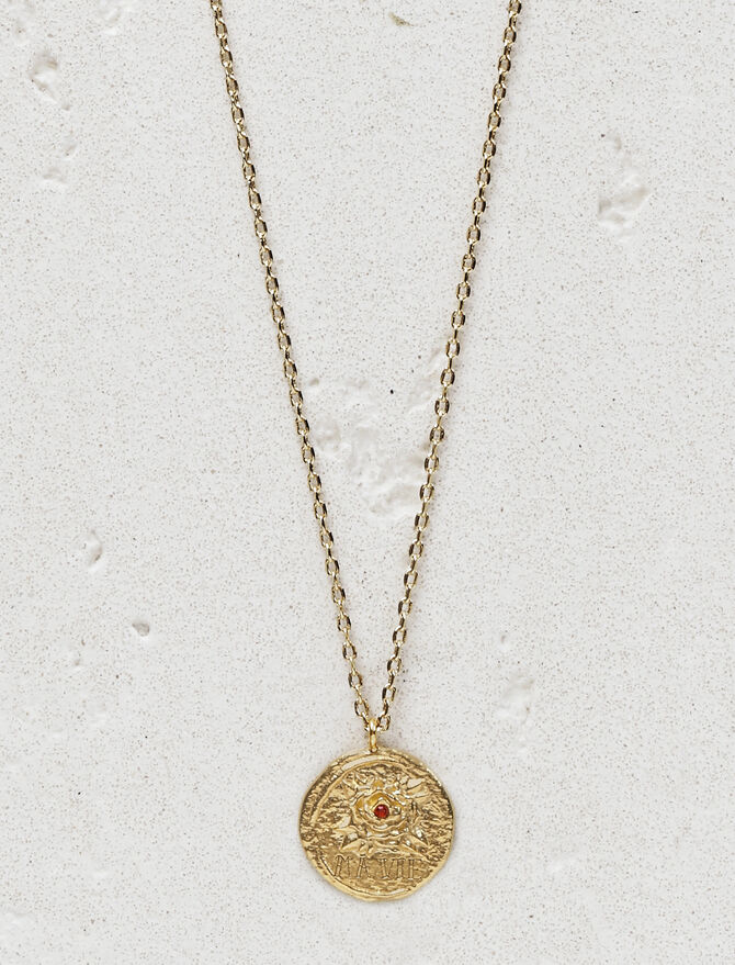 "Necklace with medallion ""Ma vie"" - Jewelry - MAJE"