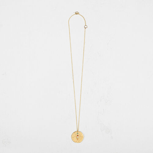 Scorpio zodiac sign necklace : Collection color GOLD