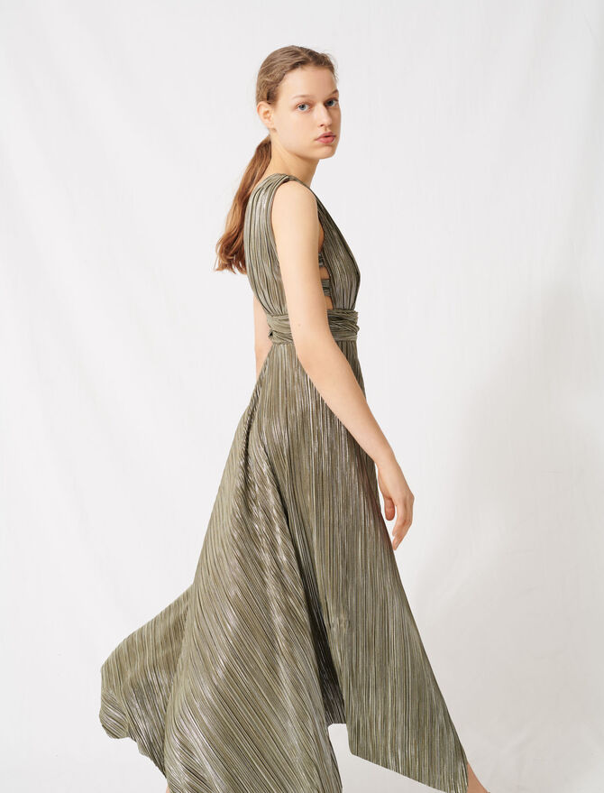 Dress covered with metallic threads -  - MAJE