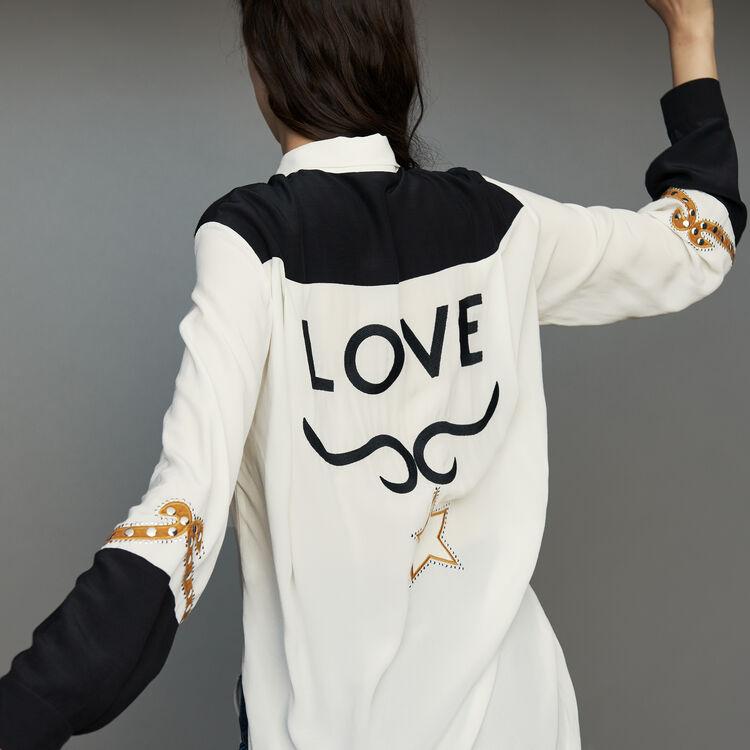 Long western blouse : Shirts color ECRU