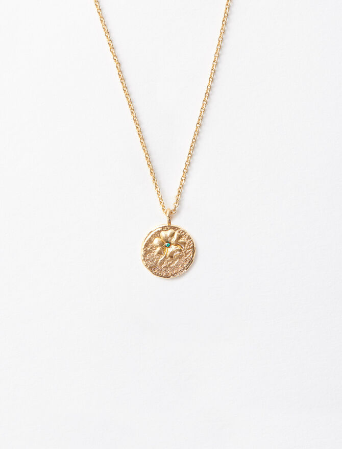 """Ma Chance"" gold-plated necklace - Sentimental medals - MAJE"