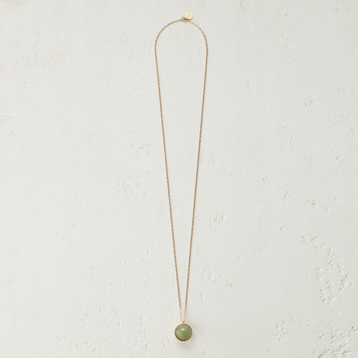 Necklace with natural stone : Jewelry color Sea Green