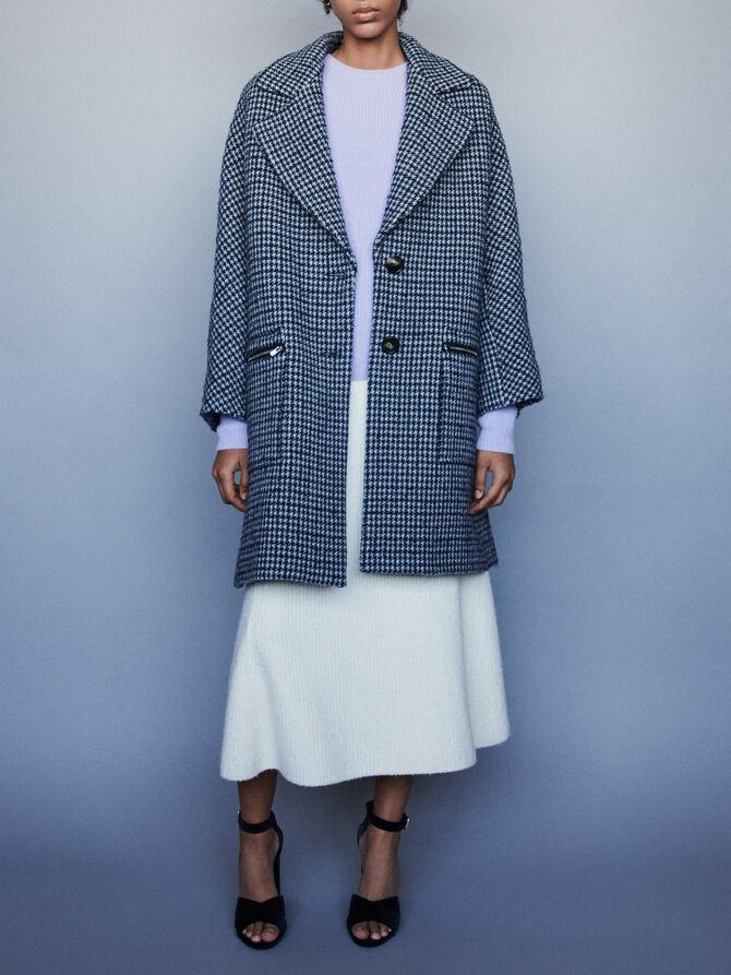 Plaid coat with zipped pockets - Jackets & Blazers - MAJE