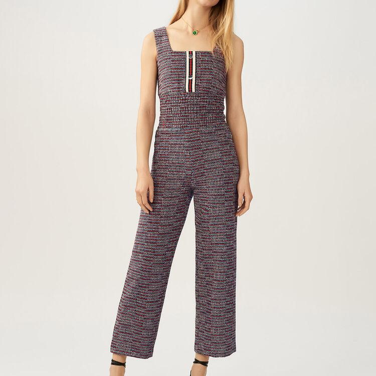 Tweed jumpsuit : staff private sale color Jacquard