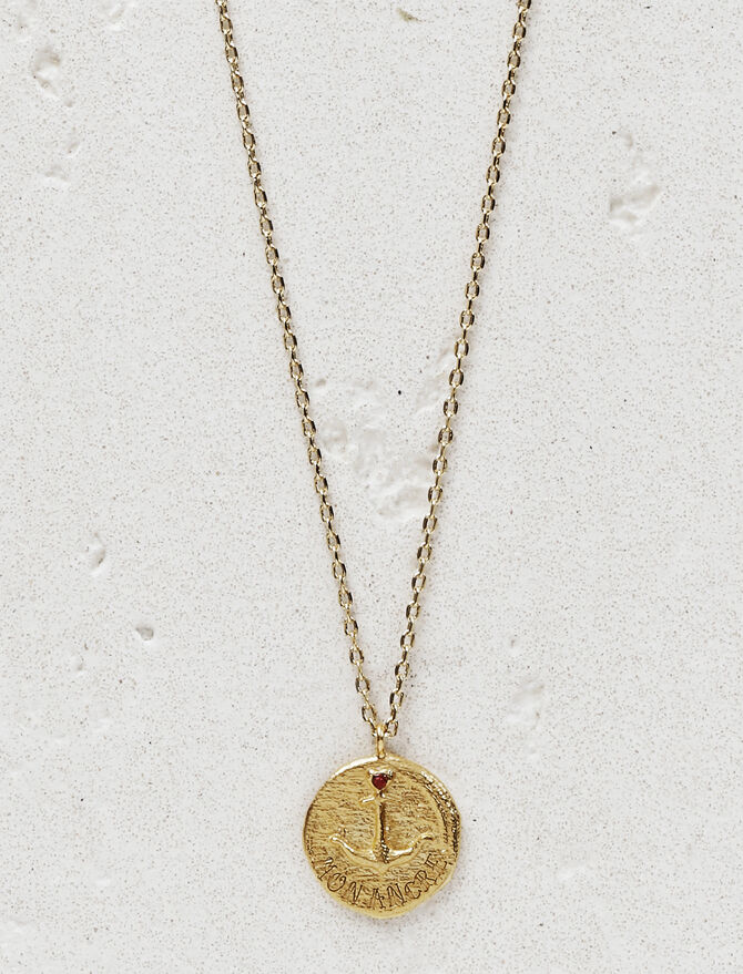 """Necklace with medallion """"Mon ancre"""" - Jewelry - MAJE"""