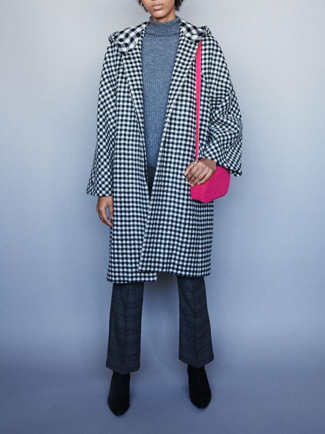 Wool plaid coat - Coats & Jackets - MAJE