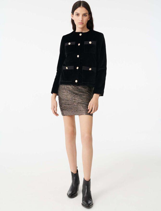 Velvet jacket with 4 pockets -  - MAJE
