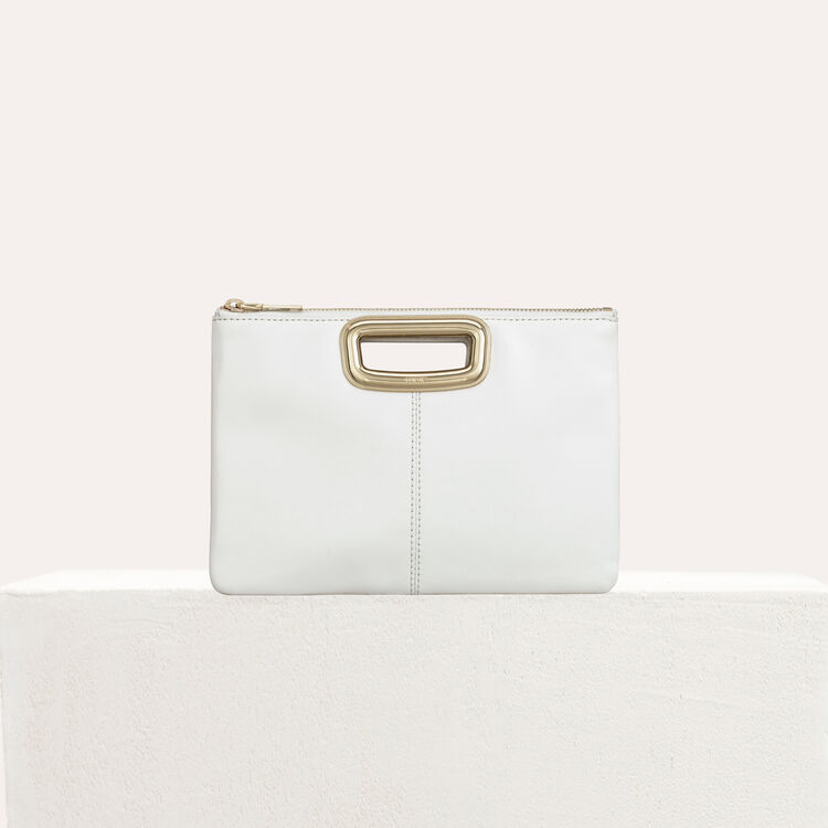 M Duo Skin purse in leather and metal : M Skin color Black 210