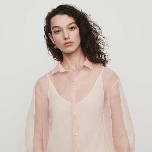 Organza-style shirt : Shirts color Mandarine