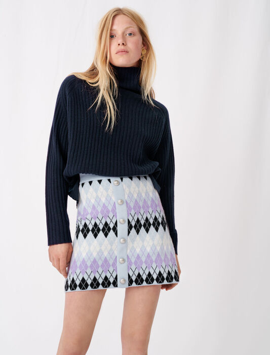 Argyle jacquard skirt : remise color