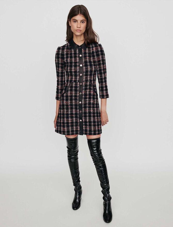 Tweed-style contrast dress - Présoldes_20_BE - MAJE