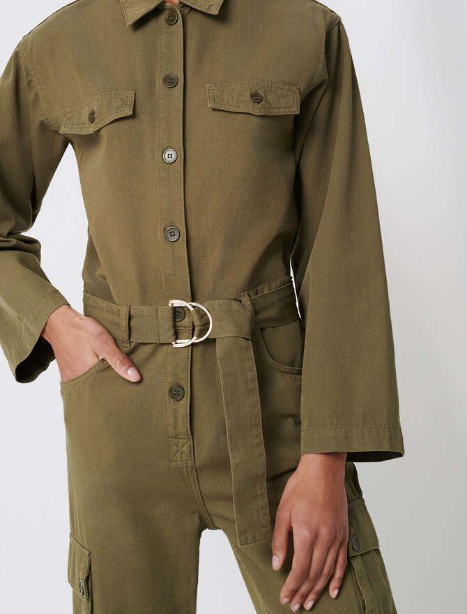 Combat-style workwear jumpsuit - Trousers & Jeans - MAJE