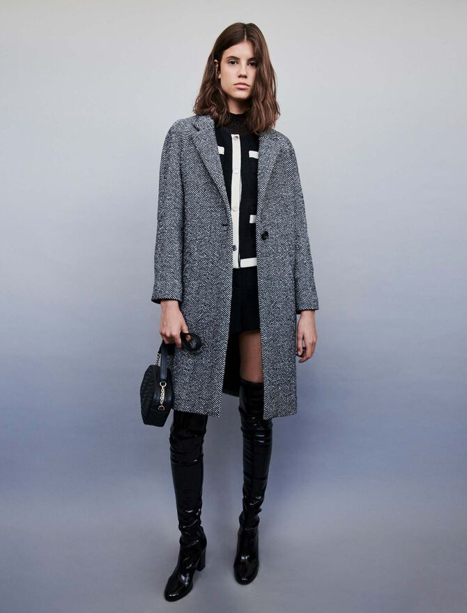 Chevron coat - Jackets & Blazers - MAJE