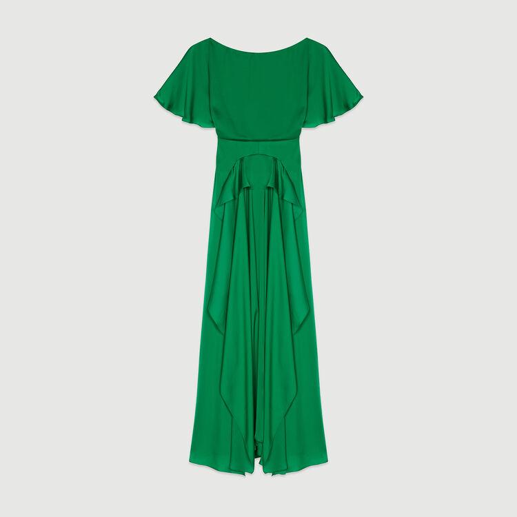 Long asymmetric dress : Dresses color Green