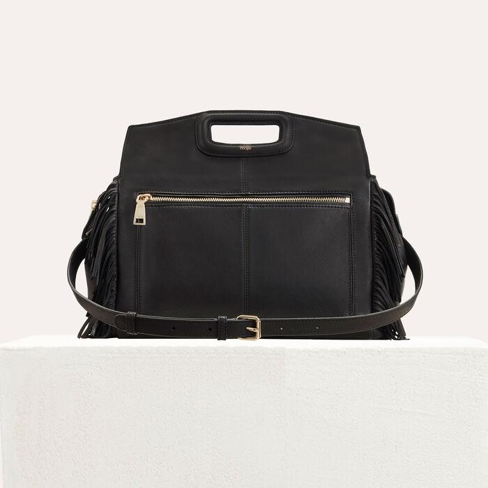 MWALK bag with suede fringe : Totes & M Walk color Black 210
