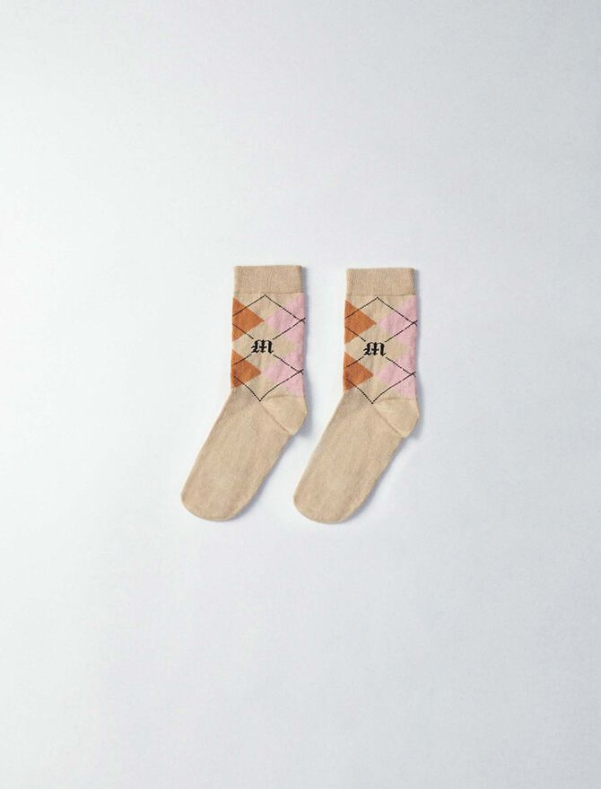 Plaid cotton socks -  - MAJE