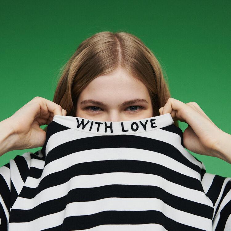 Bicolor striped T-shirt : T-Shirts color Stripe