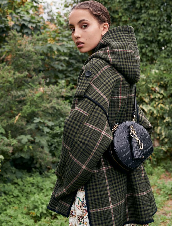Checked oversize coat - Coats & Jackets - MAJE